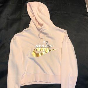 Pink Nike Semi-Cropped Sweatshirt